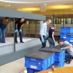 historisches museum frankfurt: die Treuner-Ausstellung wird aufgebaut