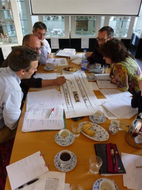 historisches museum frankfurt: workshop mit den gestaltern arge gillmann u schnegg + kuratoren