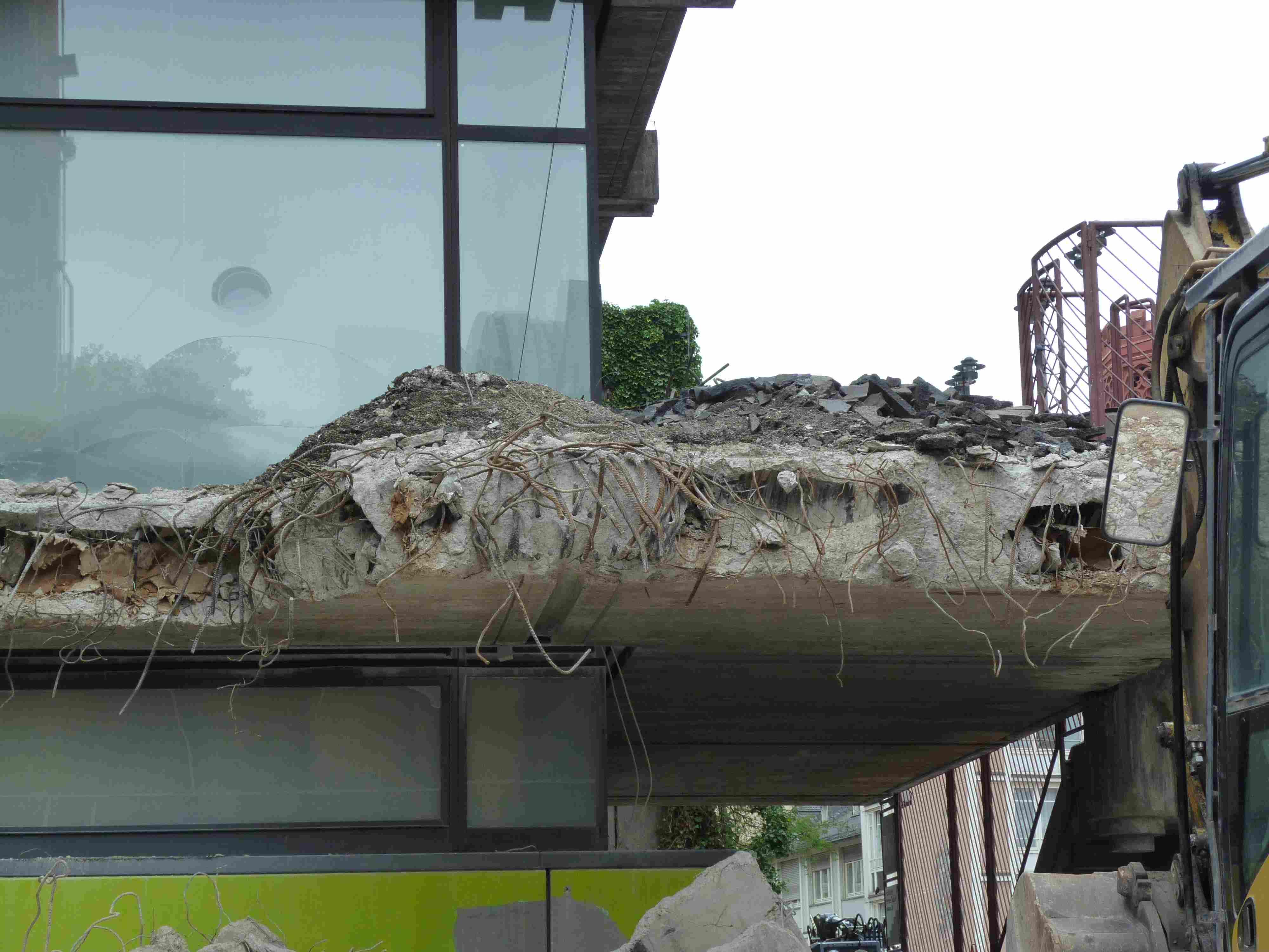 Hier war mal der östliche Balkon des historischen museums frankfurt