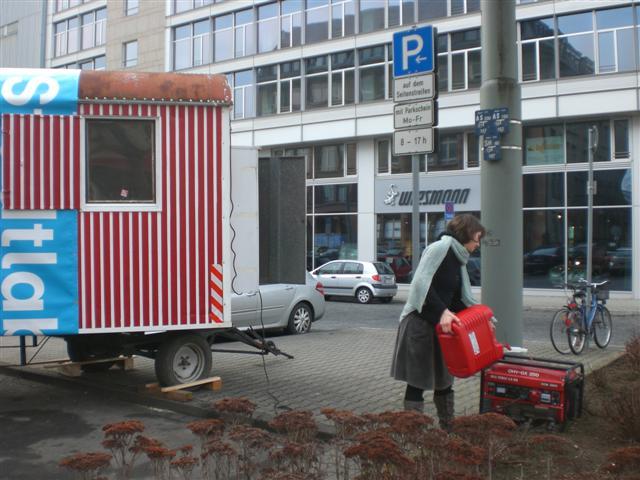 historisches museum frankfurt: im Bauwagen