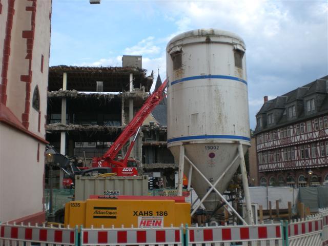 historisches museum frankfurt: Abriss, 24.8.2011