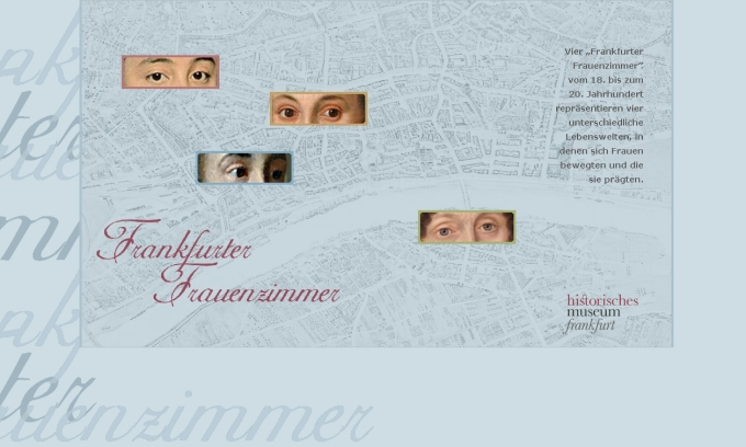 historisches museum frankfurt. internetseite frauenzimmer