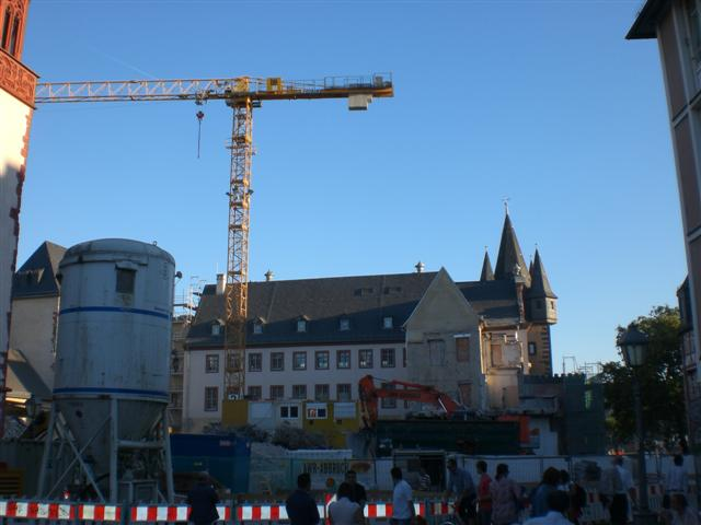 historisches museum frankfurt: Abriss + Neubau, 30.9.2011