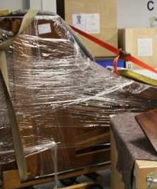historisches museum frankfurt: Kessler-Flügel noch verpackt