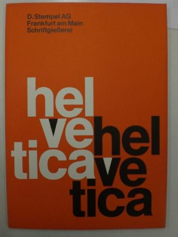 historisches museum frankfurt: helvetica, vertrieben von stempel