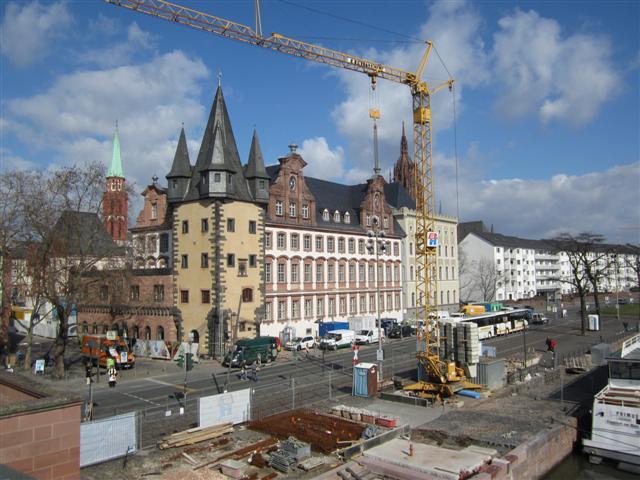 historisches museum frankfurt: Ansicht von Westen, 8.3.2012