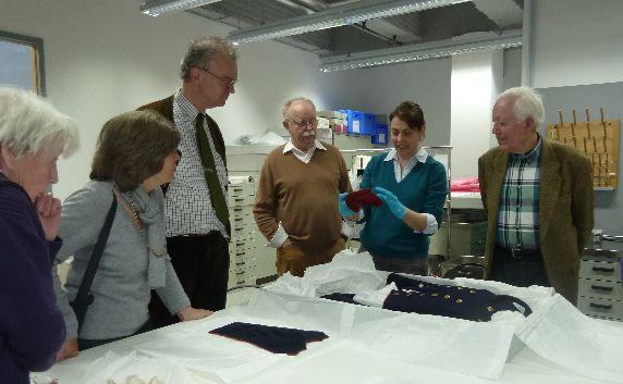 historisches museum frankfurt: in der Textilwerkstatt