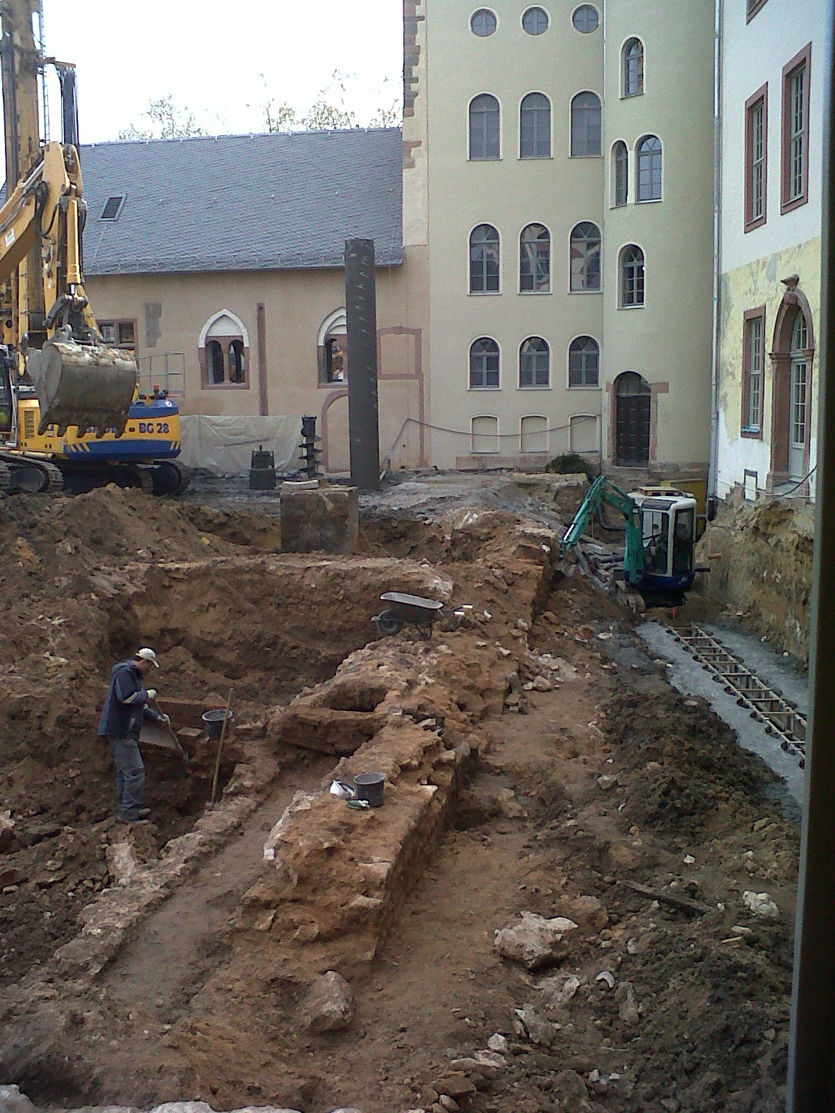 historisches museum frankfurt – Baugrube