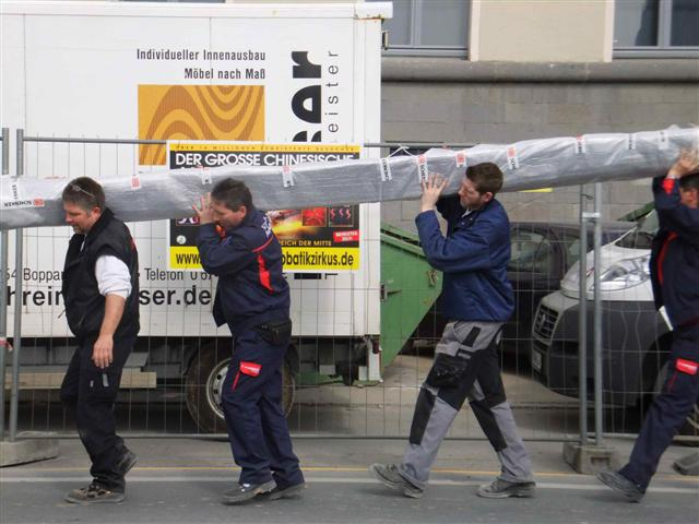 historisches museum frankfurt: eine Wasserrinne zieht um!
