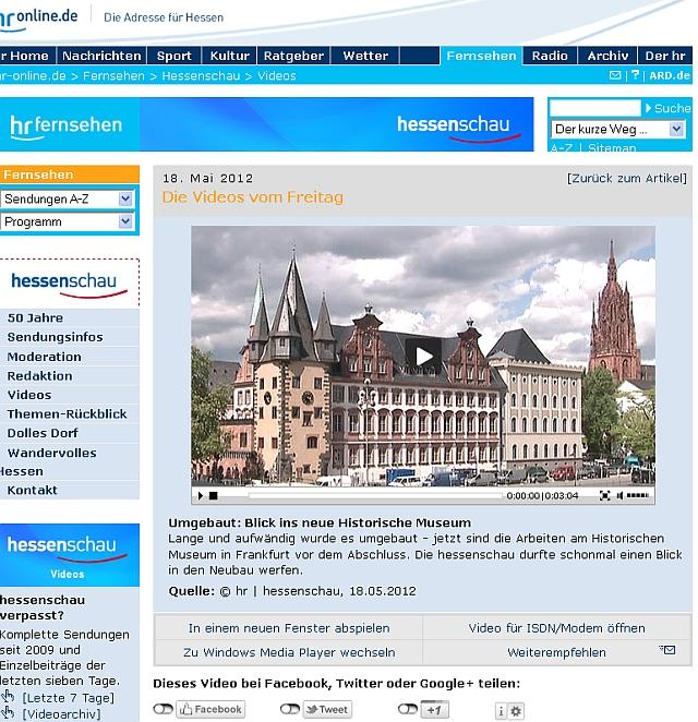 historisches museum frankfurt in der hessenschau