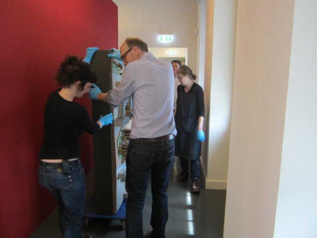 historisches museum frankfurt: Einräumen des 1980er-Modells