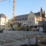 Baustelle für den Neubau des historischen museums mit dem Blick auf den Saalhof 2012 (c) historisches museum frankfurt