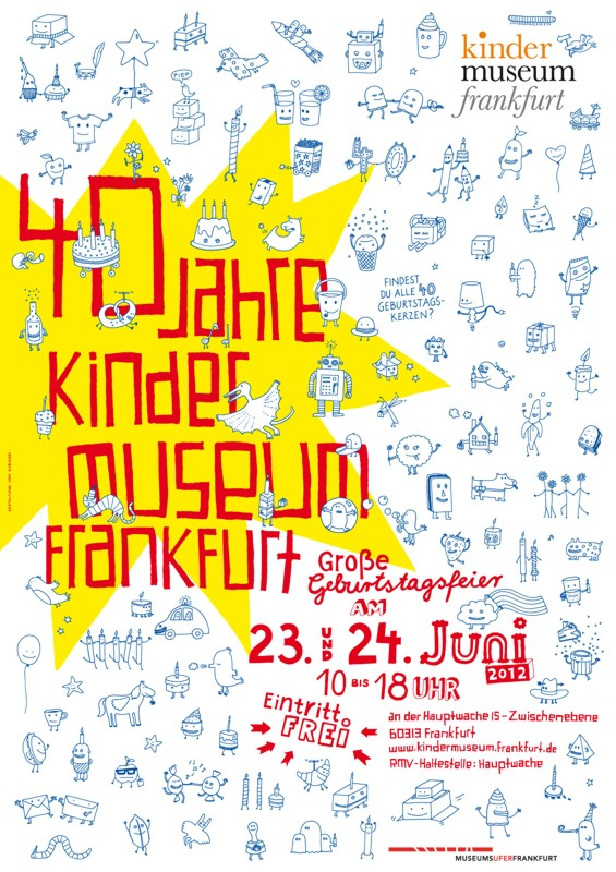 kinder museum frankfurt -Plakat zum 40 geburtstag