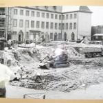 Neubau Historisches Museum, Baustelle mit Blick auf den Saalhof, 19.06.1970 (c) historisches museum frankfurt