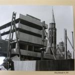 Baustelle vor dem Saalhof des Historischen Museums mit Blick auf den aufgehenden Neubau, 1971 (c) historisches museum frankfurt