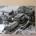 Luftaufnahme auf Saalhof und Neubau des Historischen Museums, 03.09.1971 (c) historisches museum frankfurt