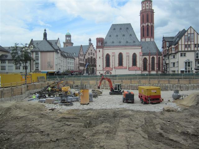 historisches museum frankfurt: baustelle am 11.7.2012