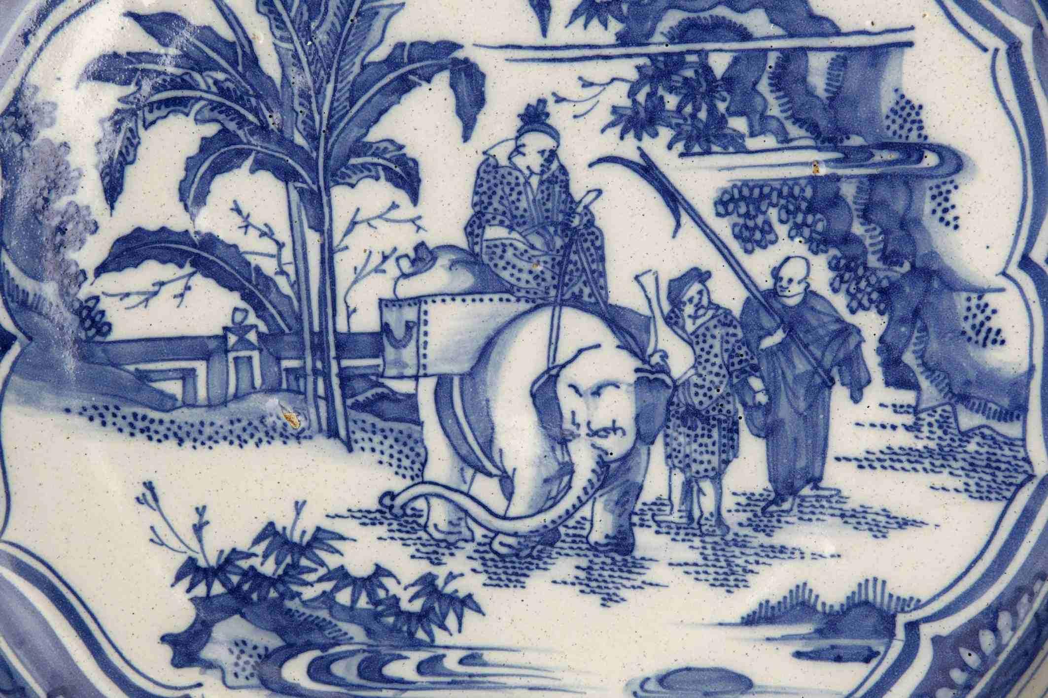 historisches museum franlfurt: Fayence mit Elefant