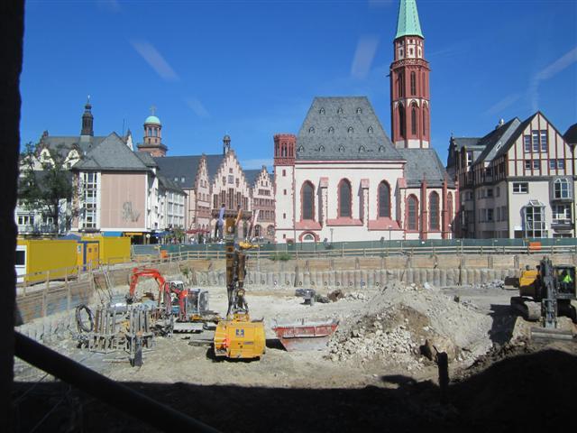 historisches museum frankfurt: Baustelle, 28.8.2012