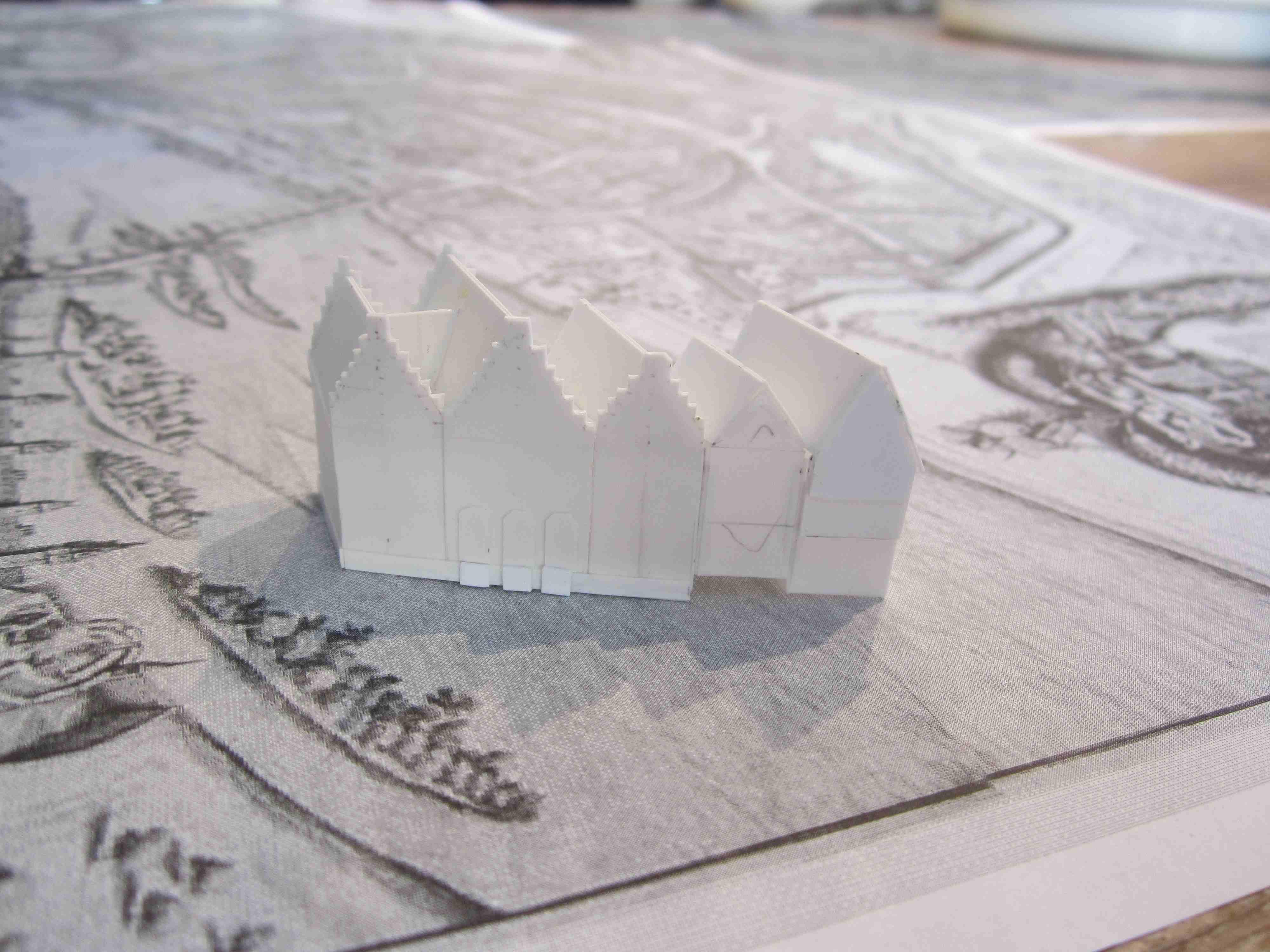 historisches museum frankfurt: 3 D-Merianplan - der Römer in Arbeit