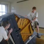 historisches museum frankfurt: Transport des Kramer-Fluegels