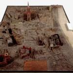 historisches museum frankfurt: Modell der Frankfurter Altstadt 1946