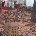 historisches museum frankfurt:  Ausschnitt aus dem Modell der Frankfurter Altstadt 1946
