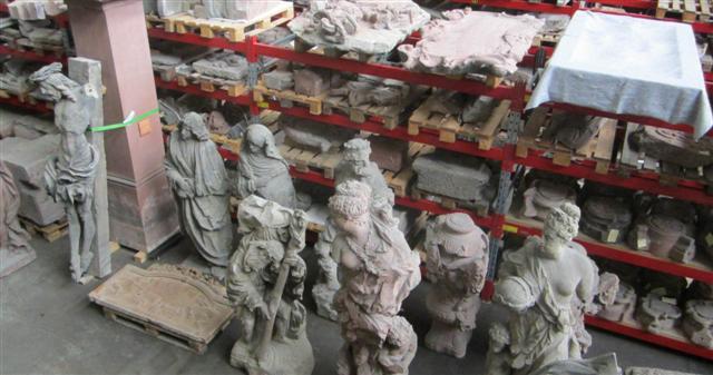historisches museum frankfurt: steindepot von oben