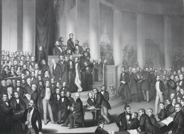 historisches museum frankfurt: Nationalversammlung in der Paulskirche_X25131