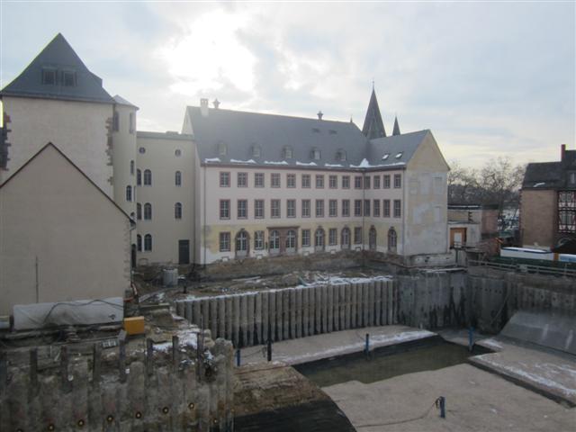 historisches museum frankfurt. Baugrube am 12.12.12