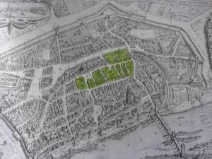 historisches museum frankfurt: Merianplan – Markierung der Bebauung