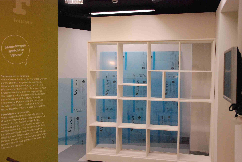 kinder museum frankfurt: Sammelfieber - leere Vitrinen