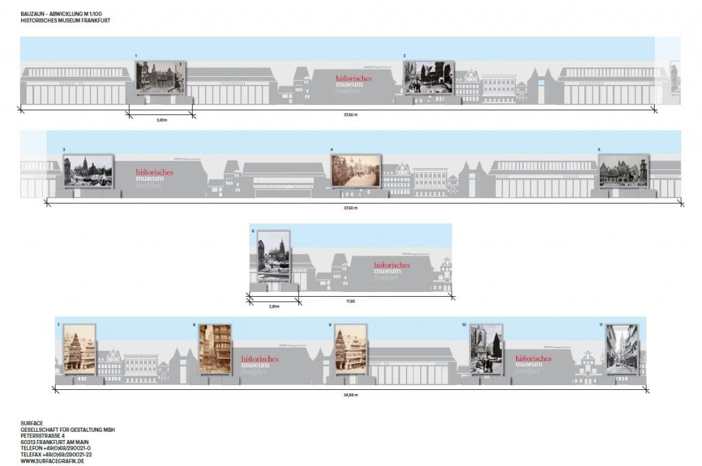 historisches museum frankfurt: Visualisierung Bauzaun, c Surface