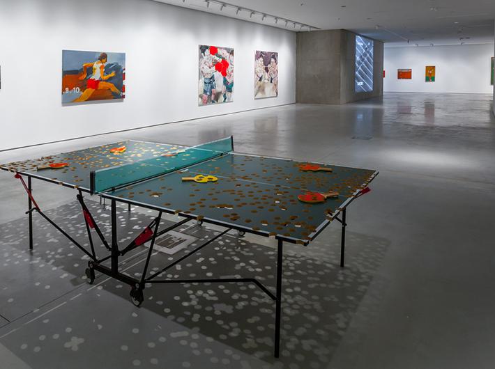 historisches-museum-frankfurt-Tischtennis im musuem-MOCAK