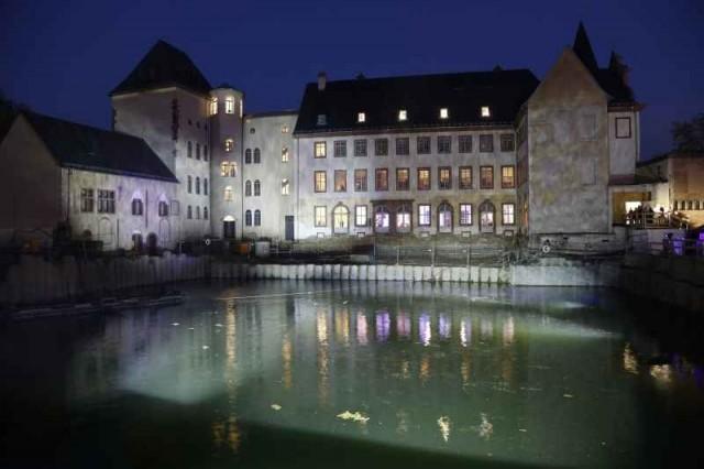 historisches museum frankfurt: der See an der Nacht der Museen 2013, Foto: U. Dettmar