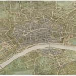 """C 31077, F.W. Delkeskamp  Von Bethmann'scher Wallgarten, Ausschnitt aus dem """"Malerischen Plan der Stadt Frankfurt am Main und seiner nächsten Umgebung""""1864"""