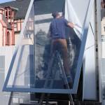 historisches museum frankfurt: Die alten Plakate müssen weichen!