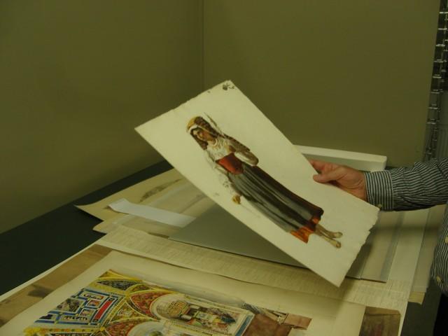 historisches museum frankfurt: Reisezeichnung von Rudolf Burnitz, Foto: C. Henß