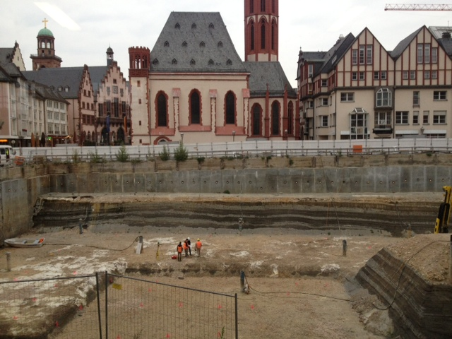 historisches museum frankfurt: die Baustelle geht voran