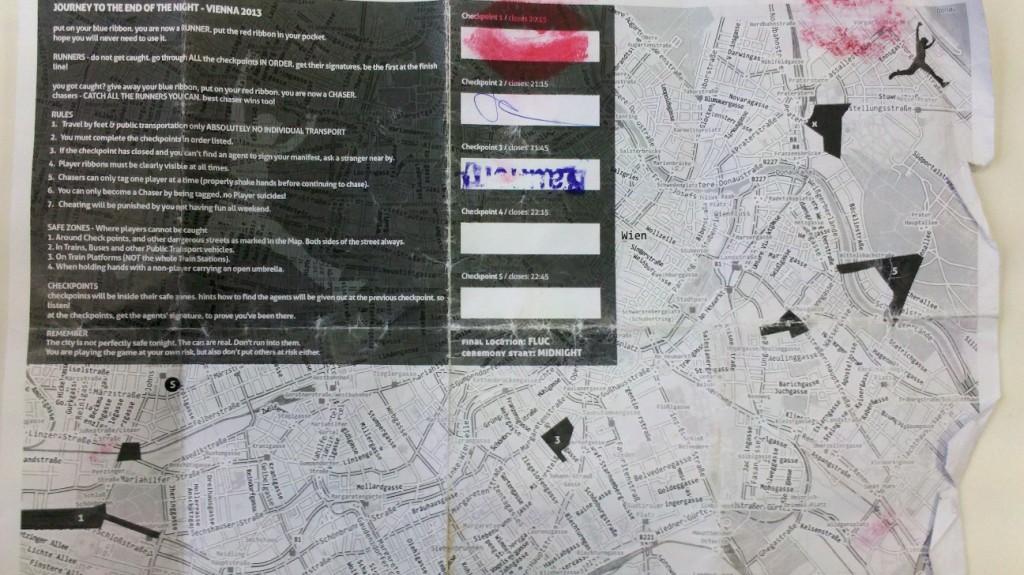 Stadtkarte und Spielanleitung