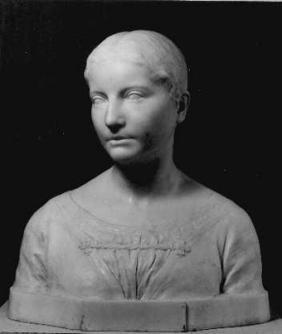 historisches museum frankfurt: Anna Edinger (1863-1929), geb. Goldschmidt, 1894, Porträtbüste von Fritz Klimsch (1870-1960)