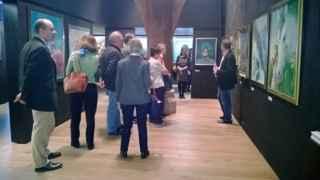 historisches museum frankfurt: freunde & foerderer im caricatura museum zu Besuch