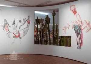 Detail der künstlerischen Installation von Pélagie Gbaguidi und Stefanie Oberhoff im Münchner Stadtmuseum Foto: Münchner Stadtmuseum
