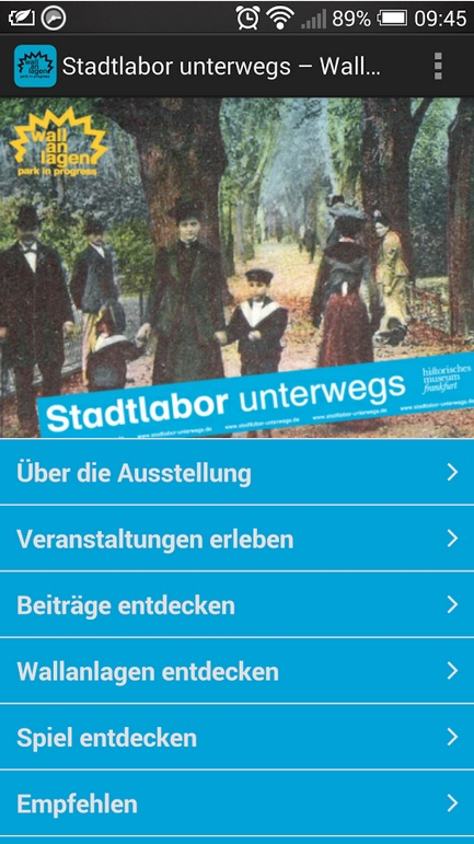 App_Stadtlabor unterwegs in den Wallanlagen