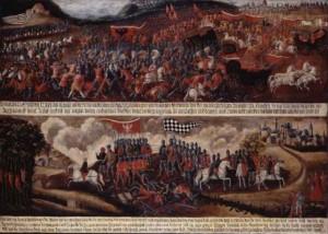 historisches museum frankfurt: Unbekannt , Schlacht bei Cronberg 1389, © Foto:hmf/ Ziegenfusz
