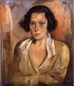 historisches museum frankfurt: Mathilde Einzig (1886-1963) gemalt von Karl Friedrich Brust, 1923. © hmf