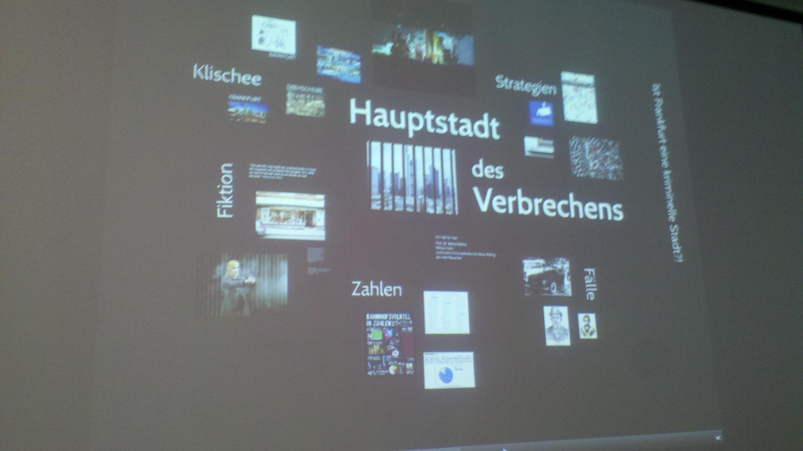 historisches museum frankfurt: Hauptstadt des Verbrechens