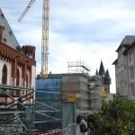 historisches-museum-frankfurt_Blick auf-Baustelle-vom-Roemerberg