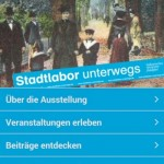 Screenshot der App Stadtlabor unterwegs in den Wallanlagen