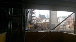 historisches museum frankfurt: Stadthaus-Bausstelle mit Blick auf die Stadt